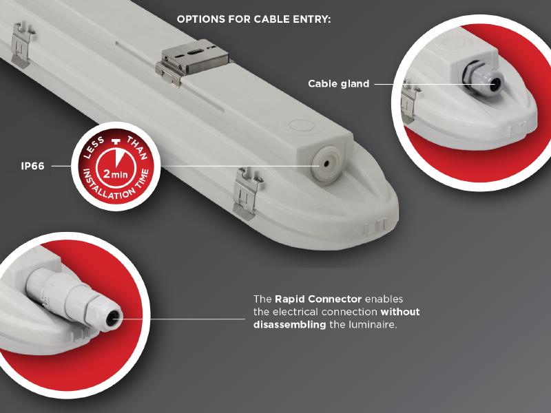 Led svetiljka ip66 za hale